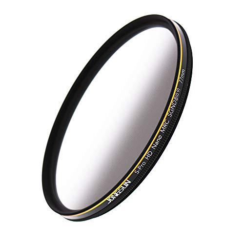 JONGSUN 77mm ND Filter, Grauer Verlaufsfilter Neutraldichtefilter, 18-Schichten Mehrfachbeschichtung, Optisches Glas Schott B270, CSGND8 (0,9) 3-Stop