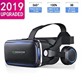 Virtual Reality Headset VR Headsets for iPhone/Android, HD 3D VR Glasses for TV, Movies & Video Games - Virtual Reality Glasses VR Goggles Compatible
