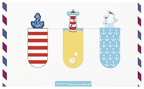 moses. 81706 Magnetlesezeichen Meer 3er Set, magnetisches Lesezeichen, charmant illustriert