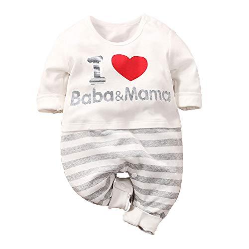 Fairy Baby Baby-Jungen Spieler, Babykleidung aus Bio-Baumwolle Baby Strampler Jungen Mädchen als Polo-Shirt Langarm oder Herbst-Strampler (0-24 Monate)