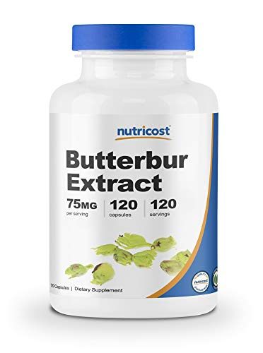 120 Servings of Butterbur in Every Bottle (120 Capsules) 75 Mg of Butterbur in Every (Veggie) Capsule Butterbur Extract (Also Known As Coltsfoot) Is The Only Active Ingredient Non-GMO, Gluten Free, 3rd Party Tested, Pyrrolizidine Alkaloids (PA) Free ...