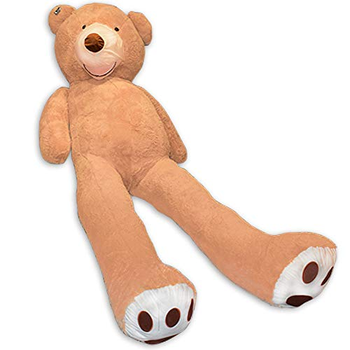 TE-Trend XXL Teddybär Big Teddy Bear Riesen Kuscheltier Plüschbär 340 cm Riesen Teddybär Plüsch Bär Hellbraun Braun