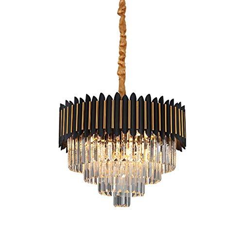 CX Iluminación Colgante de Araña de Cristal Industrial Moderno, E14 Luces de Techo de Lujo Ajustables de Lujo Ajustables para Sala de Estar para Sala de Estar Dormitorio-Dorado-Oro
