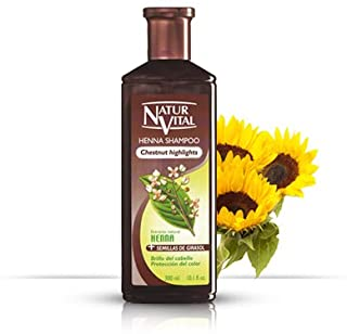 Hair Shampoo Henna Chestnut - Colour and Shine - 300 Ml / Natural & Organic
