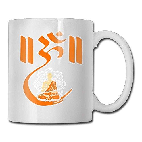 Om Lotus Budismo Yoga Meditación Taza de café Amor femenino Regalos de cerámica Taza de té Un regalo perfecto para su familia y amigos