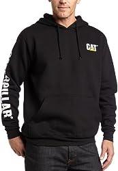 Caterpillar Men's Trademark Banner Hooded Sweatshirt (Regular and Big & Tall Sizes), Black, 2X Large