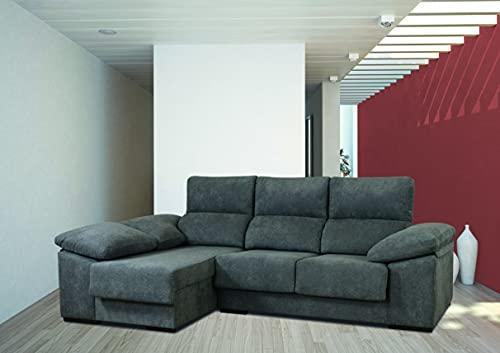MUEBLIX.COM | Sofa 3 Plazas Chaiselongue Lado Izquierdo EDURNE | Sofas de Salón Modernos | Asientos y Respaldo Espuma | Sofa con Estructura de Madera de Pino y Tablero de Espuma de Poliuretano y Napa
