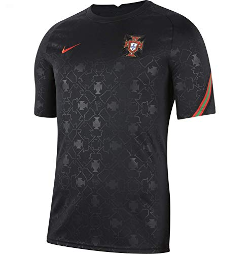 NIKE Fpf M Nk BRT Top SS PM Camiseta, Negro/Challenge Red/Challenge Red, Extra-Small para Hombre