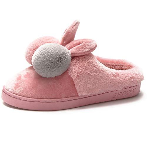 Damen Winter Plüsch Hausschuhe Herren Komfort Warme Home rutschfeste Pantoffel rutschfest Faux Pelz Slippers Soft Schuhe