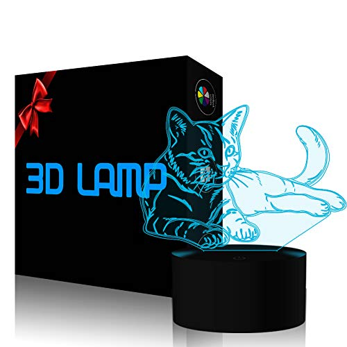 Cat 3D Illusion Lamp YKL World LED …