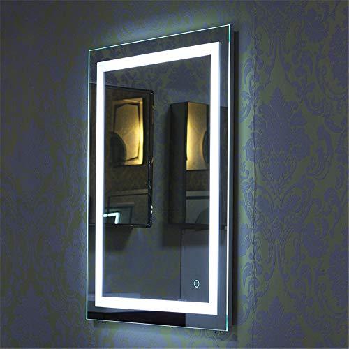 Turefans badspiegel mit Beleuchtung, Spiegel mit Beleuchtung, 22W + kühles Weiß + Touch-Schalter