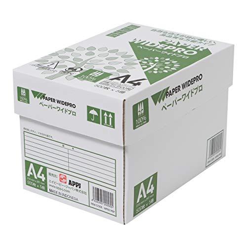 APP 自然色 コピー用紙 ペーパーワイドプロ A4 白色度87% 紙厚0.09mm 2500枚(500枚×5冊) PEFC認証