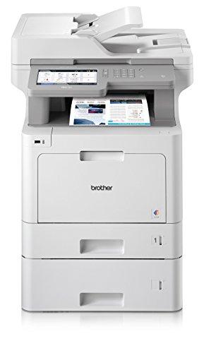 Brother MFC-L9570CDWT Professionelles 4-in-1 Farblaser-Multifunktionsgerät (31 Seiten/Min., Drucker, Scanner, Kopierer, Fax, 2400 x 600 dpi) weiß/grau