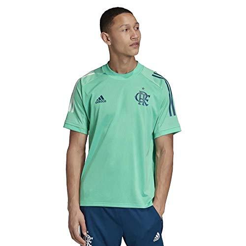 Camisa Flamengo Treino 20/21 Adidas Masculina - Verde água