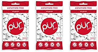PUR 100% Xylitol Chewing Gum, Sugarless Cinnamon, Sugar free & Aspartame Free, Vegan - Long Lasting Red Fire Gum, Relieves...