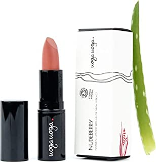 UOGA UOGA - Organic Lipstick Nudeberry - Nude - Colorants extracted from Fruit - Nourishing and protective - 100% natural - Certified Cosmos Natural - 4 g