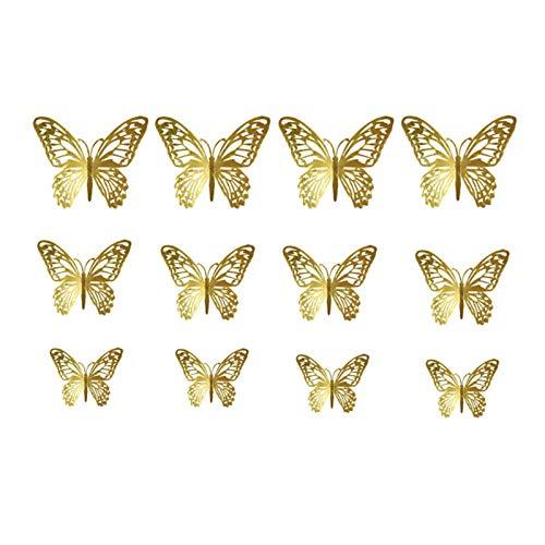 Onlyonehere 3D Schmetterling Wandaufkleber Hohle Wandtattoos für Wohnkultur