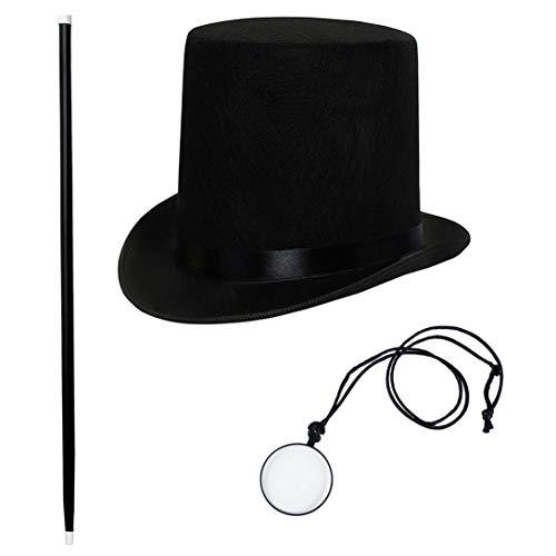 Tigerdoe Gentlemans Costume - Rich Man Costume - Victorian Costume Accessories - 3 PC Victorian Costume