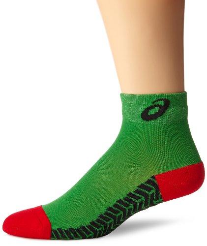 ASICS Snap Down It Socken, Jungen Damen Mädchen Herren, Kelly / Rot, Large