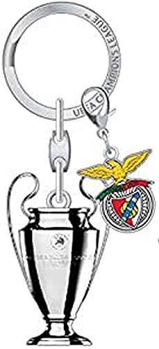 Champions League UEFA UEFA League Tag Benfica Porte clés FIFA 3D Coupe du Monde Russie/France Champions Adulte Unisexe, Silver, 5 cm