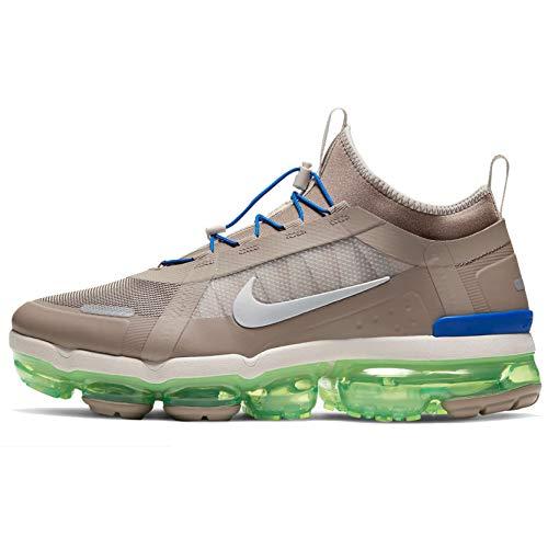 Nike Men's Air Vapormax 2019 Utility Running Shoes (11.5, Desert Sand/Ridgerock/Electric Green/Metallic Silver)