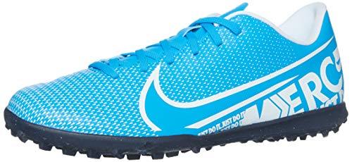 Nike Mercurial Vapor 13 Club TF, Botas de fútbol Unisex Adulto, Multicolor (Blue Hero/White/Obsidian 414), 44 EU