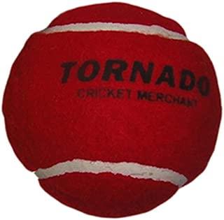 Tornado Heavy Cricket Tennis Ball - Pack of 6 (Red)