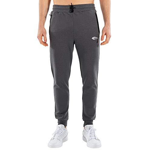 SMILODOX Herren Jogginghose Unlimited   Trainingshose für Sport Fitness Gym Training & Freizeit   Sporthose - Jogger Pants - Sweatpants Hosen - Freizeithose Lang, Größe:L, Farbe:Anthrazit