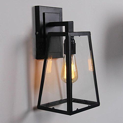 5151BuyWorld Nordic Amerika landhuis wandlamp buitenlamp bar balkon slaapkamer café restaurant creatief glas ijzeren doos driehoek goud licht