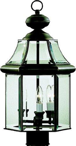 Kichler 9985OZ, Embassy Row Solid Brass Outdoor Post Lighting, 180 Total Watts, Olde Bronze