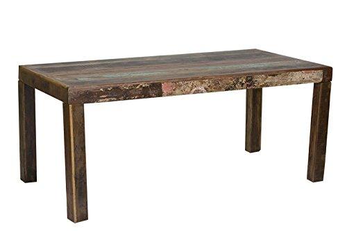 SIT-Möbel Fridge 2614-98 Tisch 140x90x76, recyceltes Altholz, bunt lackiert