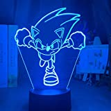 3D Illusion Lamp Sonic The Hedgehog Colorful Nightlight for Home Decoration Cool Kids Child Bedroom Led Night Light Sonic Figure-YX63_7_colors_no_remote