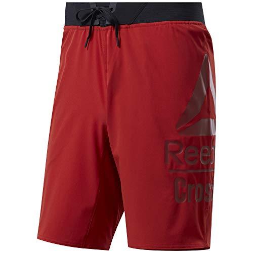 Reebok Herren Rc Epic Base Short Large Branded Kurze Hose, Legacy red, L