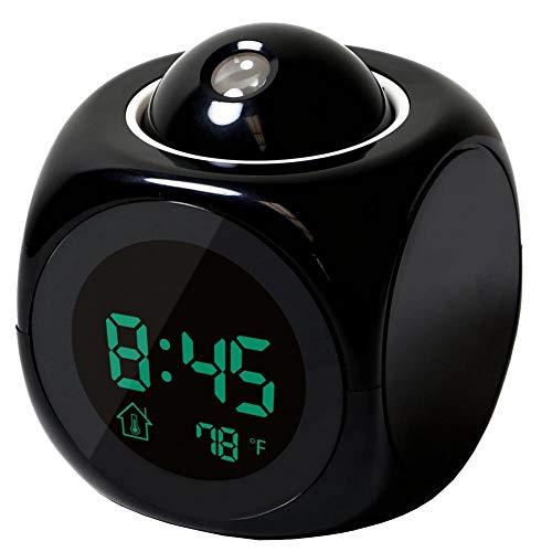 Zonfer Projektions-digital-wecker LCD-Stimme Sprechende Tischuhr Decke Digital Clock Elektronische Digital-projektor-Uhr Schreibtisch Temperaturanzeige