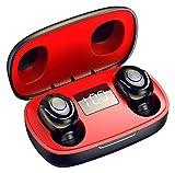 JSY Auriculares inalámbricos Bluetooth Auriculares estéreo en Oreja Auriculares a Prueba de Agua a Prueba de Agua con DIRIGIÓ Caja de Carga de Pantalla Digital Manos Libres Bluetooth