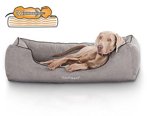Knuffelwuff Orthopädisches Hundebett Amelie Hundekorb Hundesofa Hundekissen Hundekörbchen waschbar XL 105 x 75cm Grau