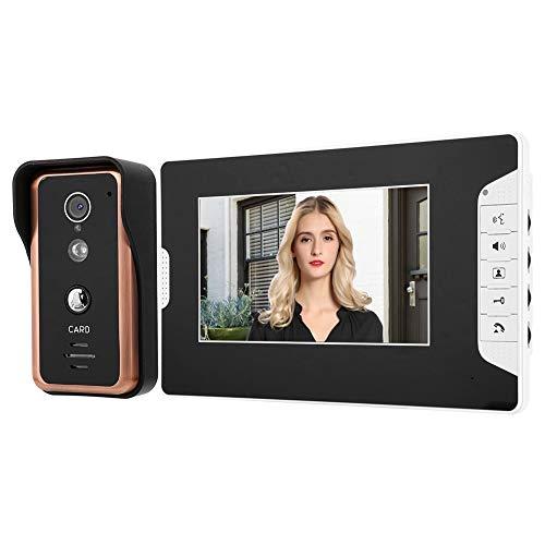 Monitores de rendimiento estable 7in 1V1, videoportero con cable, timbre electrónico, para instalación de bricolaje, para seguridad en el hogar(European standard (100-240v))