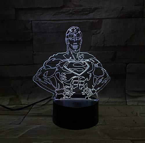 Figure de dessin animé Superman Batman 3D Lava Lampe Noël 7 Changement de couleur LED Veilleuse Ambiance Décor Cadeau Chambre Lampe De Table Lampe