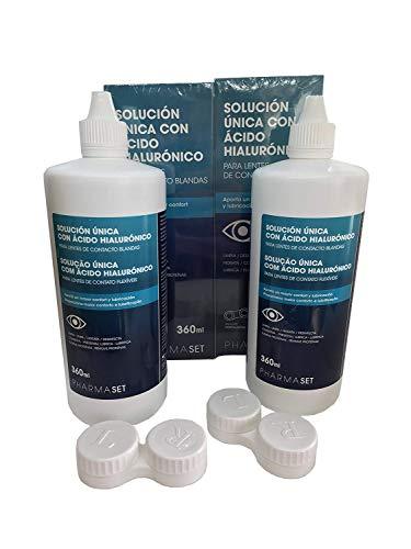PHARMASET Solución Única 360ml 2 X 360 ml, Negro, Estándar