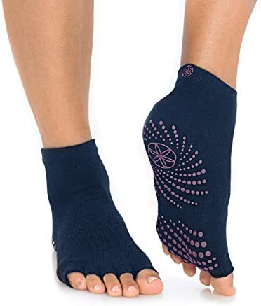 Gaiam Grippy Toeless Yoga Socks Non Slip Grip Accessories for Standard or Hot Yoga Barre Pilates product image