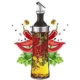 Ölflasche Glas mit integriertem Kräutersieb - 570 ml Öl Spender