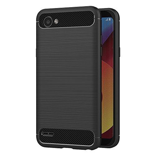 AICEK Funda LG Q6, Negro Silicona Fundas para LG Q6 Carcasa LG Q6 Fibra de...