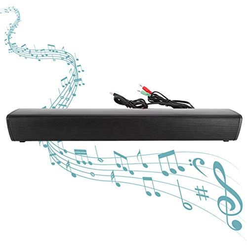Evonecy Barra de Sonido para computadora, Altavoz Externo USB de 5 V con un botón, Reproductor de música para PC, para computadora portátil