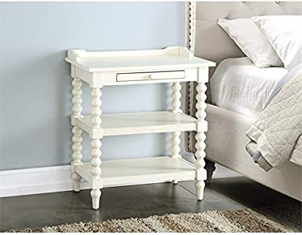 Comfort Pointe Averly Antique White Wood Nightstand