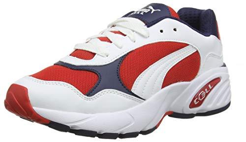 Puma Unisex-Erwachsene Cell Viper Sneaker, Weiß(Weiß (Puma White-High Risk Red)), 43