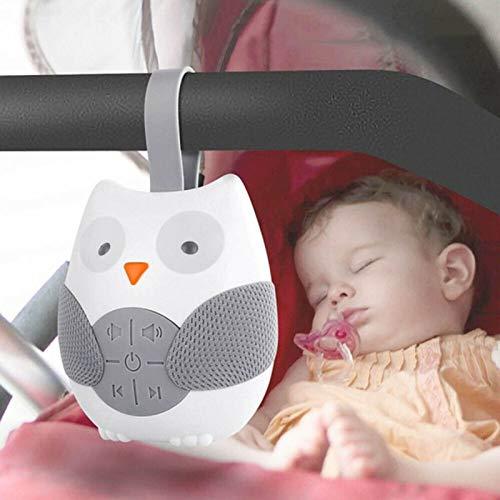 Dapang Baby Sleep Soother Sound Machine Tragbare White Noise Sound Machine mit 12 beruhigenden Geräuschen und 3 Timern Shusher für Reisende schlafende Kinderwagen,Weiß