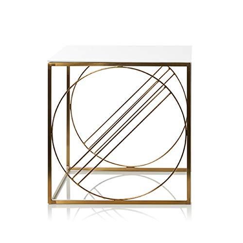 NYDZ Petite Table Basse - Simple Mini Salon carré Table Basse latérale en Fer forgé doré (Size : 45 * 45 * 45cm)