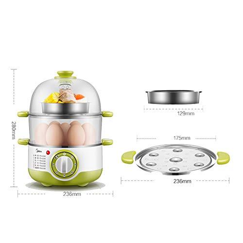 Dampfgarer | 3-stufige elektrische Dampfgarer zum Garen von Gemüse und gesunden Lebensmitteln Fast | Instant Steam-Funktion und abschließbare Behälter mit 3 Litern Fassungsvermögen, 400-W-Dampfaus