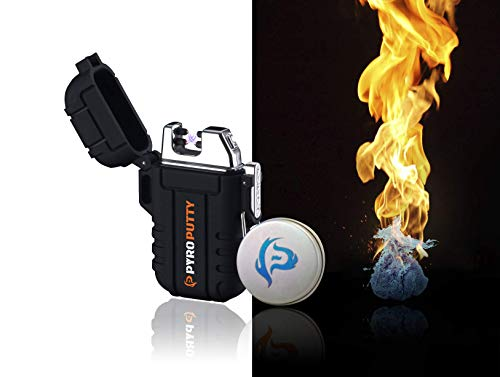 Phone Skope PYRO Putty Dual ARC Lighter | USB Rechargable (0.5 oz Winter Blend Can + Dual Arc...