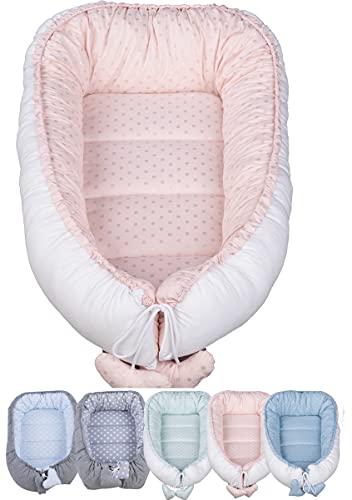 Vizaro - Cuna Nido Bebé Reversible Multiuso -100% Algodón Premium - Uso como cambiador,...